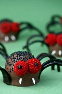 Creepy Crawly Brownie Spider Bites