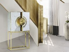 Secret cabinet - perfect for gold interior design projects. More at http://memoir.pt/all-products/