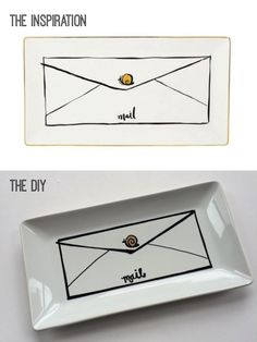Beacon Street Chic | DIY: Kate Spade-Inspired Snail Mail Tray | http://beaconstreetchic.com