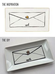 Beacon Street Chic | DIY: Kate Spade-Inspired Snail Mail Tray | http://beaconstreetchic.com