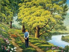 John Sloane is an American painter who is working in a realistic manner. His works manifest the admiration of the nature in all four seasons and enjoyment of the country life. Country Art, Country Life, Life Paint, Naive Art, Modern Artists, American Artists, Beautiful Paintings, Les Oeuvres, Cool Art