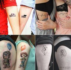 Tatuagem inspirada na Disney. Disney Wedding Rings, Wedding Rings For Women, Wedding Band Tattoo, Wedding Bands, Married Couple Tattoos, Partner Tattoos, Tattoo Designs, Tattoo Models, I Tattoo