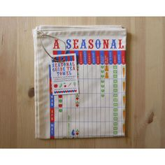 Seasonal Guide to British Fruit & Vegetables Tea Towel (£10.00) Gorgeous, fun and quirky gifts for you and your home Hunkydory Home