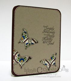 My Creations: Trust God Reverse Applique stampin up card