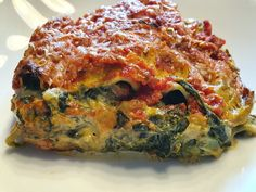 Spinach Lasagna by Spinach Lasagna, Lasagna Soup, Easy Whole 30 Recipes, Greek Recipes, Easy Cooking, Healthy Cooking, Whole30 Recipes Lunch, Avocado Salad Recipes, Cooking For Beginners