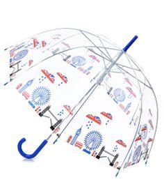 Clear London Union Jack Cityscape Umbrella - Unique Vintage - Prom dresses, retro dresses, retro swimsuits. on Wanelo