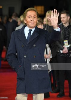 Valentino attends the World Premiere of 'The Time Of Their Lives' at the Curzon Mayfair on March 2017 in London, United Kingdom. Very Valentino, London United, Valentino Garavani, United Kingdom, Chef Jackets, March, Collection, Coat, Fashion Design