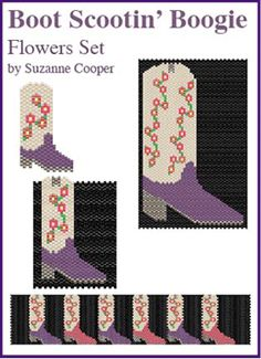 Boot Scootin' Boogie, Boot Set, Flowers by Suzanne Cooper