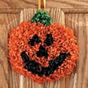 Tissue Paper Pumpkin Craft Kit. Halloween craft ideas for kids.