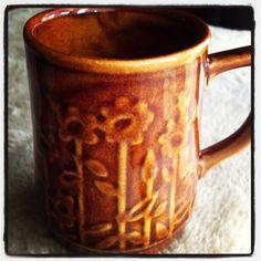 Crown Lynn - Titian mug Mug Shots, Kiwi, Bespoke, Pottery, Crown, Goals, Ceramics, Mugs, Cool Stuff