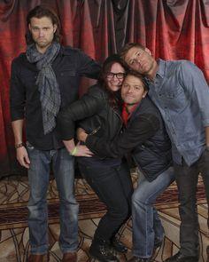 Jensen Ackles And Misha Collins | Jensen Ackles Misha Collins Jared Padalecki j2m vegascon vegascon13 my ...