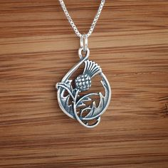 Double-Sided Scottish Thistle Pendant - STERLING SILVER - (Just the pendant, chains are sold separately.). $ 15.00, via LittleDevilDesigns, Handmade Sterling Silver and Bronze Jewelry, on Etsy.