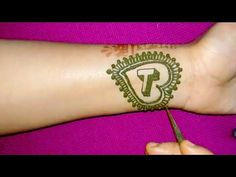 DIY Alphabet ' T ' letter heena Tattoo mehndi design with heart shape - YouTube