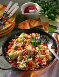 Chinakohl-Tomaten-Pfanne Rezept