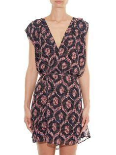 Tuxi V-neck crepe dress | Isabel Marant | $521