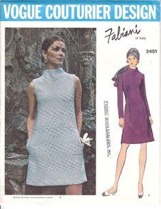 Vogue Couturier Fabiani A-line Dress Low Waist Semi Fitted Sew Pattern 2451 S 12 #Voguecouturierpattern #FabianiDesigner