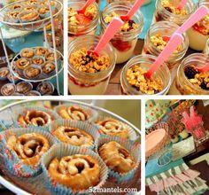 mini-cinis and parfaits in mason jars