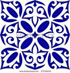 Geometric Islamic Seamless Pattern Arabesque blue and white, patchwork – Decoration Islamic Art Pattern, Mandala Pattern, Pattern Art, Ceramic Painting, Ceramic Art, Painting On Wood, Arabesque, Lotus Painting, Folk Art Flowers
