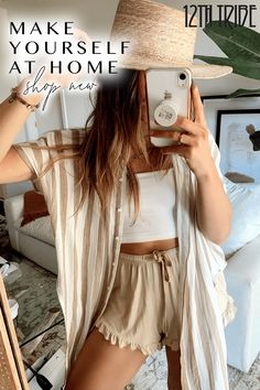 Your at home style, upgraded. Cute Summer Outfits, Cute Casual Outfits, Outfits For Teens, Spring Outfits, Girly Outfits, Stylish Outfits, Boho Fashion, Fashion Outfits, Grunge Fashion