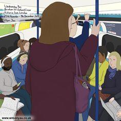 Rush hour, Victoria line, November 2015 – Wilson Yau: I draw, teach and make stuff Oxford Circus Station, Wednesday Morning, Rush Hour, London Underground, November 2015, Brixton, My Drawings, Line, Family Guy