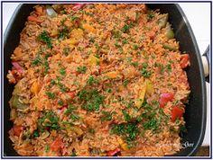 Lecker mit Geri: Paprika-Hackfleisch-Pfanne mit Reis - Вкусно ястие с чушки, кайма и ориз