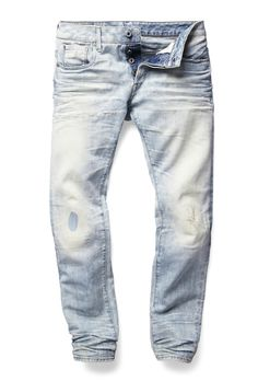 Light-wash/Stone-wash denim look. Possible to bleach denim to get this? Denim Trends, Designer Clothes For Men, Denim Pants, Men's Jeans, Vintage Jeans, Denim Fashion, Jeans Style, Indigo, Men Fashion