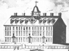 Connecticut History | Yale University in Colonial Days. Connecticut Hall, Yales first ...