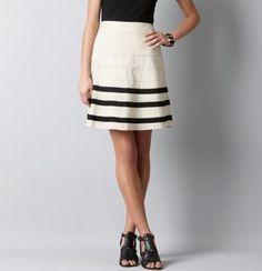 Grosgrain Stripe Full Skirt from LOFT