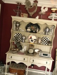 Forever Decorating!: Hutch 108 I so want this, equiped with roosters and all!!!