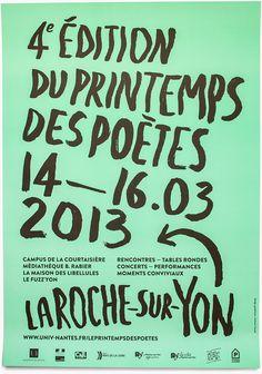 Le Printemps des poètes à La Roche-sur-Yon