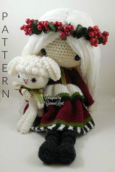 December  Amigurumi Doll Crochet Pattern