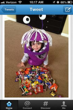 Monsters Inc Boo Costume by MaybeBabyOnEtsy on Etsy, $65.00