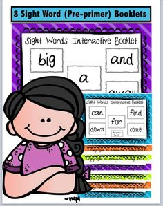 This interactive sight word set contains 8 preprimer booklets. Each booklet teaches 5 preprimer words. There are 14 interactive FUN tasks: Unscramble the Words ABC Order Spy & Highlight Count & Graph Color the Words Solve the Clues Fi Kindergarten Reading Activities, Vocabulary Activities, Reading Resources, Classroom Resources, Kindergarten Teachers, Sight Word Booklets, 4th Grade Classroom, Primary Classroom, Thing 1