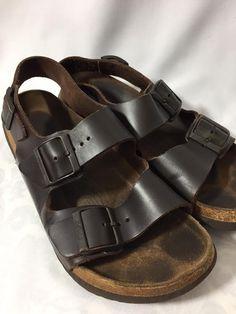 a60e2c9d2 Birkenstock Betula Brown Leather Sandals 40 Women 9  Birkenstocks  Betula