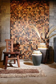 Beautiful Wood Wall Art is a part of our furniture design inspiration series. Furniture Inspiration series is a weekly showcase of incredible designs Wooden Wall Design, Wooden Wall Panels, Wooden Wall Decor, Wood Panel Walls, Diy Wall Decor, Wooden Walls, Wood Design, Wood Paneling, Wood Mosaic