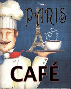 Paris Café Eiffel tower and all. It's a nice poster. I Love Coffee, Coffee Art, Drawing Coffee, Coffee Barista, Coffee Menu, Coffee Painting, Coffee Signs, White Coffee, Starbucks Coffee