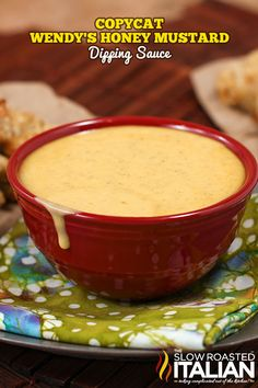 Wendy's Honey Mustard Copycat recipe is sweet, mustardy, and perfectly delicious. And now you can enjoy it at home too! A simple recipe that comes together in a snap it is the only honey mustard you w Honey Mustard Dip, Honey Mustard Recipes, Honey Mustard Dressing, Recipe For Homemade Honey Mustard, Sweet And Spicy Mustard Recipe, Copykat Recipes, Sauce Recipes, Cooking Recipes, Sauces