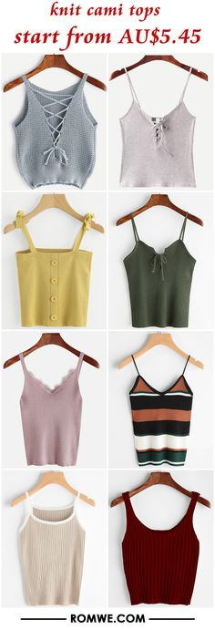 knit cami tops from AU$5.45