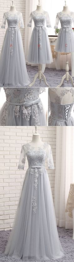 Sparkly Prom Dress, gray tulle lace long prom dress, gray bridesmaid dress, gray tulle lace long wedding party dress These 2020 prom dresses include everything from sophisticated long prom gowns to short party dresses for prom. Grey Bridesmaids, Elegant Bridesmaid Dresses, Cheap Prom Dresses, Wedding Party Dresses, Wedding Shoes, Formal Evening Dresses, Evening Gowns, Pretty Dresses, Beautiful Dresses