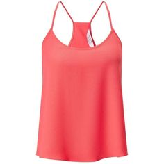 Miss Selfridge Petites Wrap Back Cami Top ($32) ❤ liked on Polyvore featuring tops, coral, petite, petite tank tops, wrap tank top, red tank, spaghetti-strap tank tops and red singlet