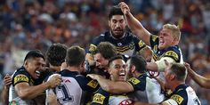 An extra-time Johnathan Thurston field goal has sealed North Queensland's first ever premiership in a pulsating decider that will be remembered as one of the greatest Grand Finals ever played. National Rugby League, Great Team, Cowboys, Congratulations, Zero, Football, Game, Sports, Beginning Sounds