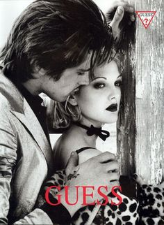 Drew Barrymore for Guess ad Guess Models, 90s Models, Lauryn Hill, Romantic Photography, Couple Photography, Gwen Stefani, Guess Campaigns, Guess Ads, Winter Outfits