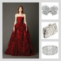 Inspire drama with the Shaye earrings, Clara clutch and Chadwick bracelet with this Vera Wang wedding gown. Save 10% at adorn.com using promo code: pinterest10 ... bridal accessories, wedding day jewelry, diamond jewelry, diamond earrings, swarovski crystal clutch