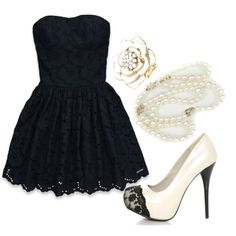 Black and White<3 Great for a romantic date..