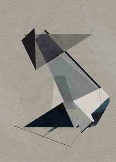 An abstract artwork based on a composition of graphic shapes.