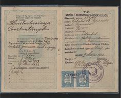 1932 Greek Passport for Efstratios Kyriacodis. Ephemera, Decoupage, Art Projects, Greece, Poster, Image, Passport, Greece Country, Posters