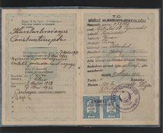 1932 -33 Greek Passport for Efstratios Kyriacodis.