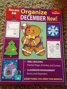 The Mailbox: ORGANIZE DECEMBER NOW! (Preschool): W/ Ready-to-Go Learning Centers #TeacherResourceBookTheMailbox Starting bid of only $5.00 or Use the BUY IT NOW!