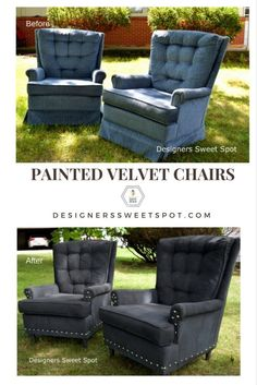 Painted Velvet Chairs Graphic