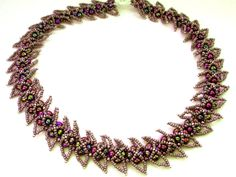 Free pattern for necklace Andromeda